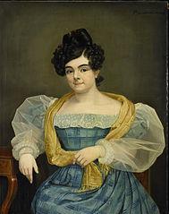 Portrait of Adriana Johanna van Wijck, Wife of Johannes Ploos van Amstel