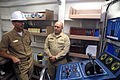 Petty officers speak during a visit to USS Roosevelt DVIDS63576.jpg