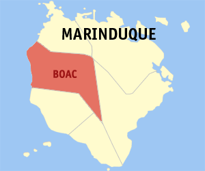 Map of Marinduque with Boac highlighted