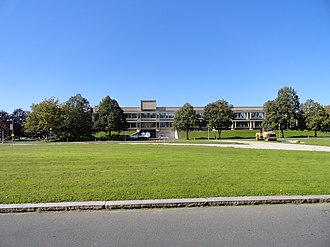 Alumni Field (Amherst, Massachusetts) - Whitmore Administration Building, located on the spot of the former field