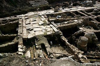 Philippopolis (Thracia) - Remains of ancient street, water supply and sewerage of Philippopolis built in the Roman period