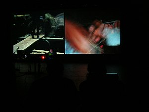 Phill Niblock - Phill Niblock in performance.