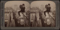 Photographing New York City - on a slender support 18 stories above pavement of Fifth Avenue(man with a camera), by Underwood & Underwood.png