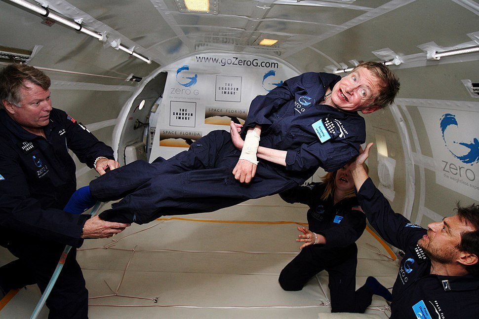 Physicist Stephen Hawking in Zero Gravity NASA