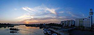 Pizhou - View of the Grand Canal of China in Pizhou