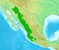 Picoides arizonae et Picoides stricklandi distr.png