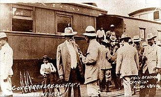 Venustiano Carranza - President Carranza in Piedras Negras, Coahuila in 1915.