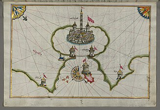 Piri Reis - Map of the Port of Brindisi - Walters W658205A - Full Page.jpg