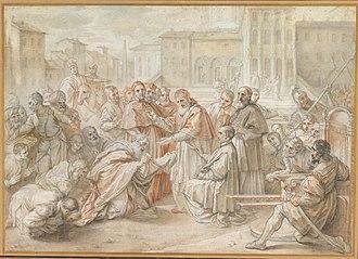 Benedetto Luti - Image: Pius V and the Ambassador of the King of Poland Benedetto Luti