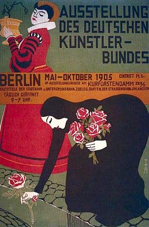 Deutscher Künstlerbund - Image: Plakat Ausstellung des Deutschen Künstler Bundes, Berlin 1905