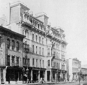 John Plankinton -  Milwaukee Plankinton House Hotel, as it appeared when built in 1867