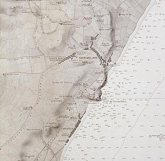 Torremolinos - Map of Torremolinos from 1889