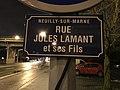 Plaque rue Lamant Fils Neuilly Marne 1.jpg