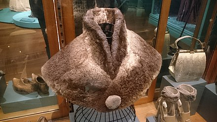 A platypus fur cape. Made in 1890. Donated to the National Gallery of Victoria by Mrs F Smith in 1985 Platypus cape unknown tasmania.jpg