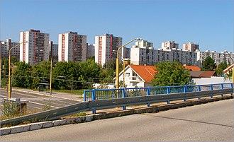 Sídlisko KVP - Image: Pohľad na Wuppertálsku a Cottbuskú ulicu panoramio