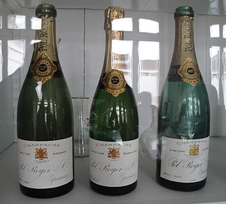 Pol Roger - Bottles of Pol Roger champagne from 1921, 1928, and 1945