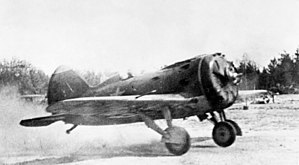 177th Fighter Aviation Regiment PVO - An I-16 of the type flown by the regiment