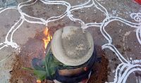 Overflowing during cooking of Pongal indicates overflowing of joy