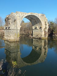 The Pont Ambroix at Villetelle