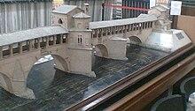 Modello in legno del ponte medievale