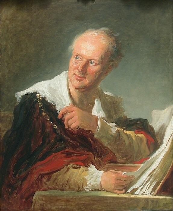 Portrait d'homme, anciennement portrait de Denis Diderot par Fragonard