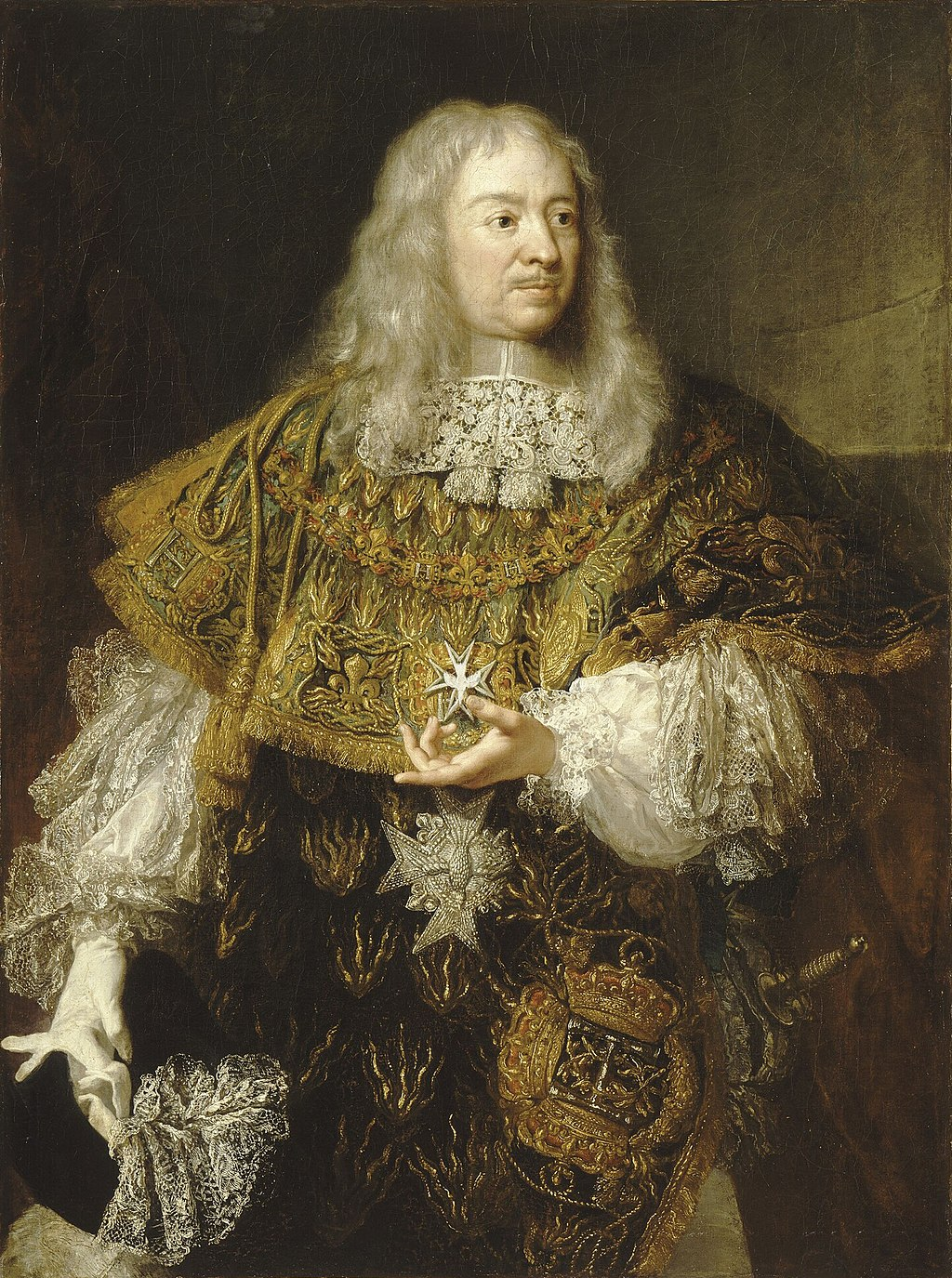 Portrait of Gabriel de Rochechouart, Duke of Mortemart wearing the Order of the Holy Spirit (Versailles, unknown artist).jpg