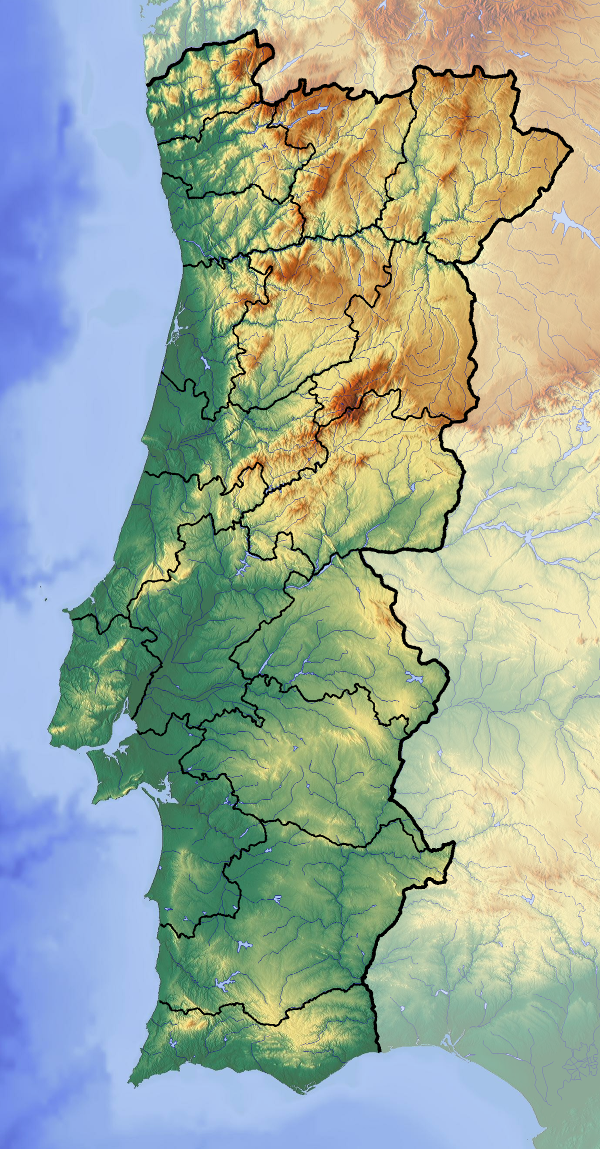 Lisbon Earthquake Wikipedia - Portugal map in 1200