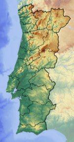 Location map Portugal is located in Portugal