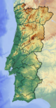 Portugal location map Topographic.png