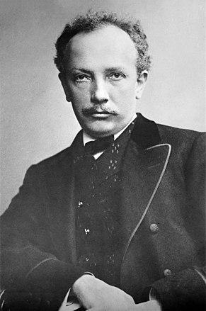 Рихард Штраус в возрасте 40 лет. Почтовая открытка. 1910