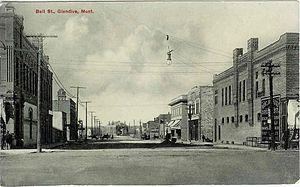 Glendive, Montana - Bell Street, about 1913