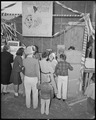 Poston, Arizona. New Year's Fair. Pop corn stand run by girl scouts. - NARA - 536664.tif