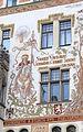 Prague Praha 2014 Holmstad Storch - huset - house med maleri av St. Vaclav - sørsiden - Starometske namesti - 1.JPG