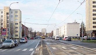 Petřiny - Na Petřinách street