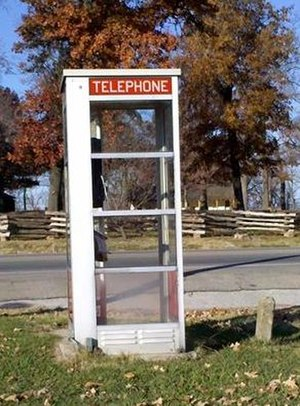 Prairie Grove Airlight Outdoor Telephone Booth - Image: Prairie Grove Airlight Outdoor Telephone Booth