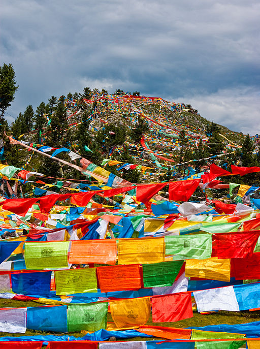 Prayer flags near Litang