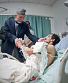 President Karzai Visits Wounded Afghan Soldier DVIDS277420.jpg