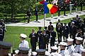 President Klaus Iohannis of Romania Participates in a Full Honors Wreath Laying Ceremony (34755385790).jpg