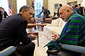 President Obama and Afghan President Karzai Converse (4643058331).jpg