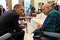 President Obama and Afghan President Karzai Converse (4643058331).jpg