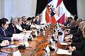 Presidenta Bachelet sostiene reunión bilateral con Mandatario peruano (30514403753).jpg