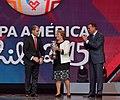 Presidenta de la República participó en el sorteo de la Copa América Chile 2015 (15253701274).jpg