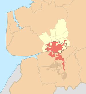 Districts of Preston - Image: Preston (sub division of Preston Urban Area) locator map