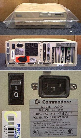 Pop (U.S. TV network) - Prevue Guide Amiga 2000 unit (decommissioned).