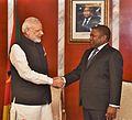 Prime Minister Narendra Modi with President of Mozambique Filipe Nyusi.jpg