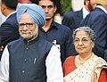 Prime Minister Singh and Smt. Kaur in New Delhi on October 15, 2010.jpg