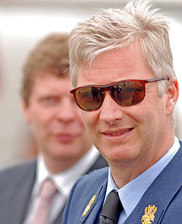Koning Filip tijdens de Defense Days in 2008