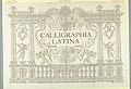 """Print, Title Page """"Calligraphia Latina,"""" in Dissertatio epistolaris de calligraphiae nomenclatione - , 1756 (CH 18508389).jpg"""