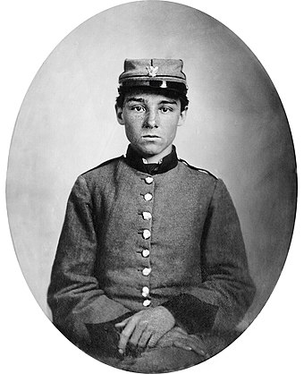 Private Edwin Francis Jemison, whose image became one of the most famous portraits of the young soldiers of the war. Private Edwin Francis Jemison.jpg