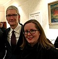 Professor Lorna M Hughes and Tim Cook, CEO of Apple.jpg